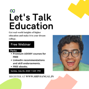 Webinar, Education, College, Free